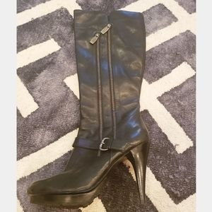 Like New Guess Black Knee High Boots 9.5